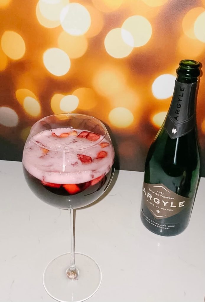 The perfect bubbly fall sangria.