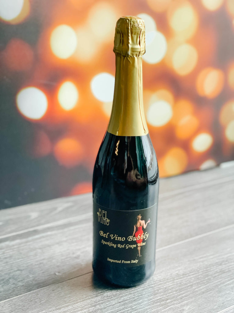 Bel Vino's Sparkling Red Wine imported from Italy.