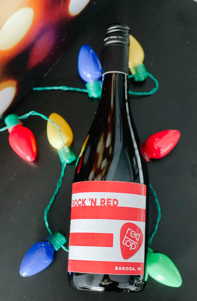 Red Top's Sparkling Red Wine that pairs perfectly with chocolate.
