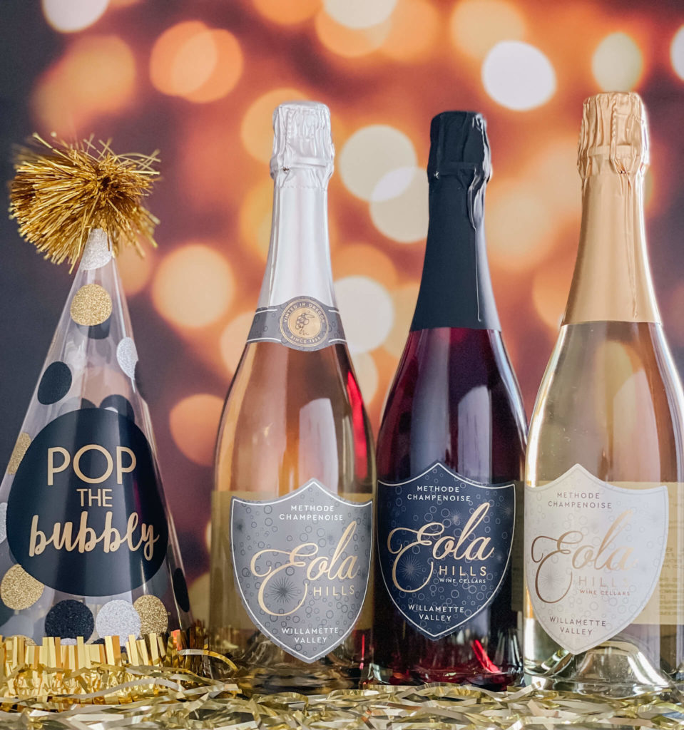 You can't ring in the new year without some Bubbly!  It's our New Year's Eve holiday bundle from Eola Hills!