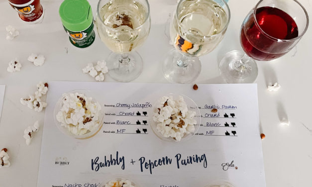 The Best Popcorn Party Ever-Popcorn Salts Paired With Bubbly