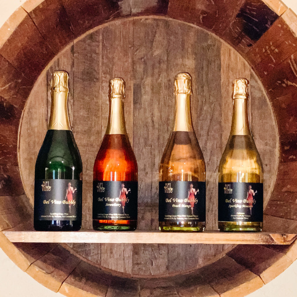 Bel Vino sparkling wines that make great mimosa cocktails.