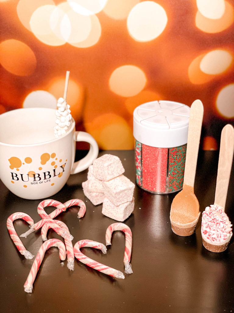 All the fun toppings for the perfect customized hot chocolate.