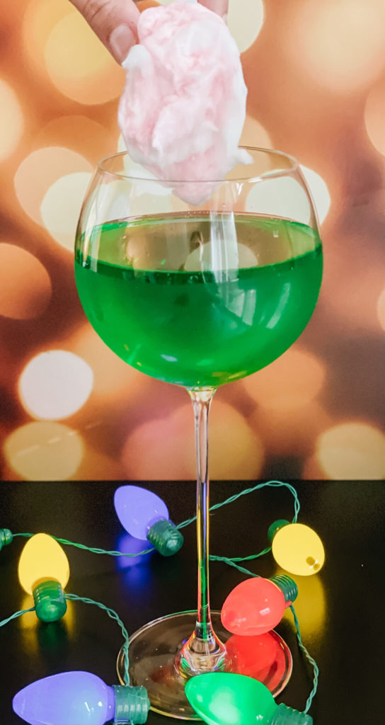O' Christmas Tree a cotton candy mocktail perfect for the hoidays