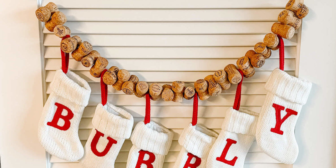 How to Make Super Easy Cork Garland