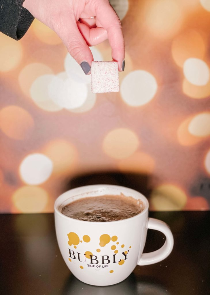 Sparkling red wine hot chocolate.
