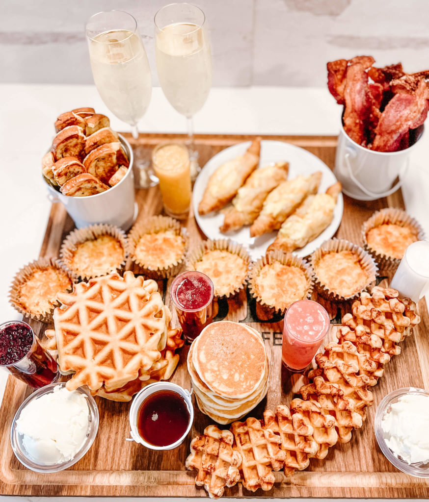 Breakfast menu everyone will love on an easy to serve custom charcuterie board.