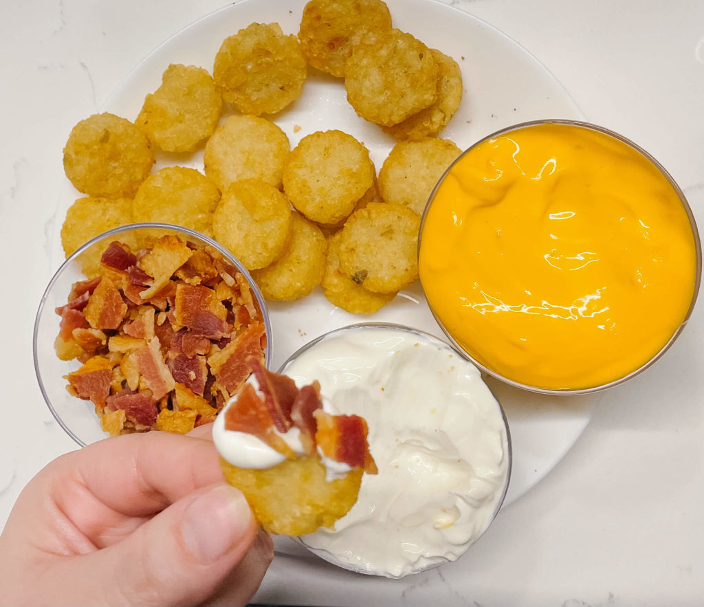 These football game snacks are perfect to pair with any bubbly!