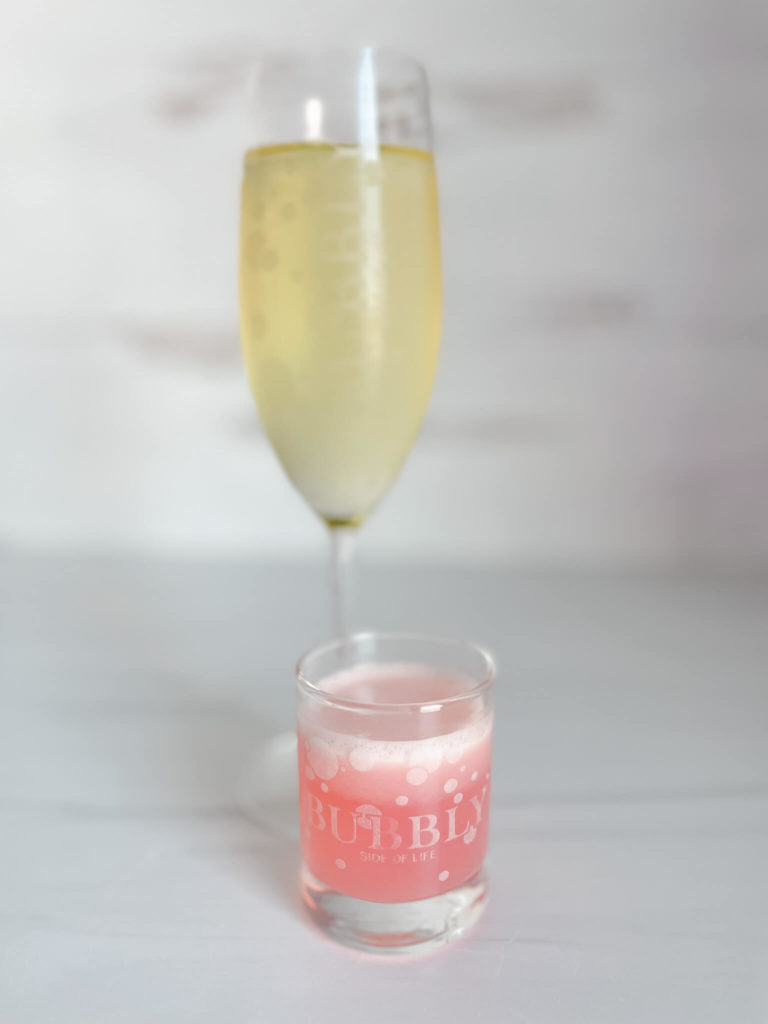 How to make a variation of a grapefruit mimosa with Aldi Sparkling wine.