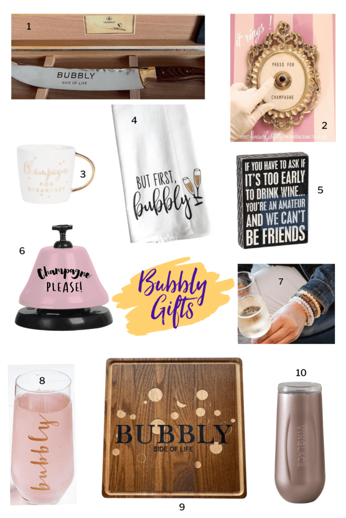 Sparkling wine gifts for all the bubbly lovers in your life!