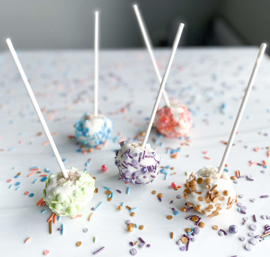 Bubbly cake pops a perfect Easter Celebration dessert