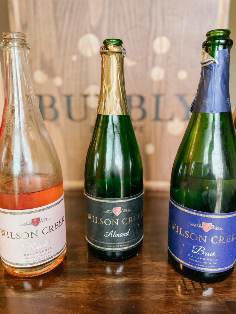 Baking with bubbly for the perfect bubbly dessert board.