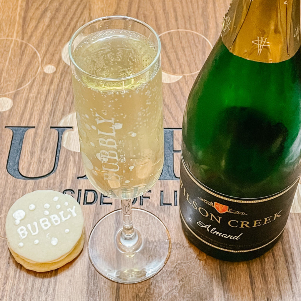 Pairing bubbly with birthday desserts.