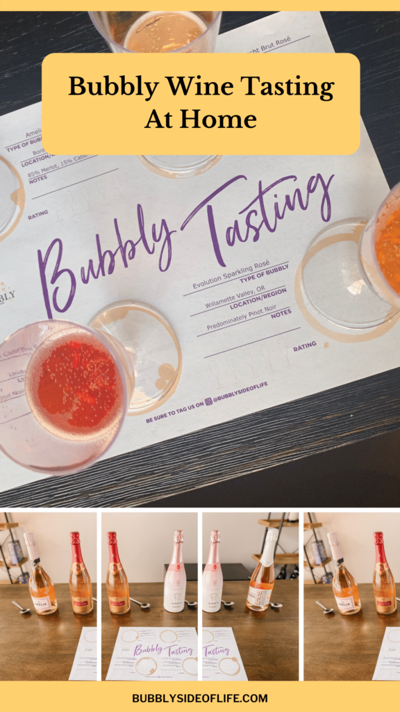 Bubbly Wine Tasting At Home