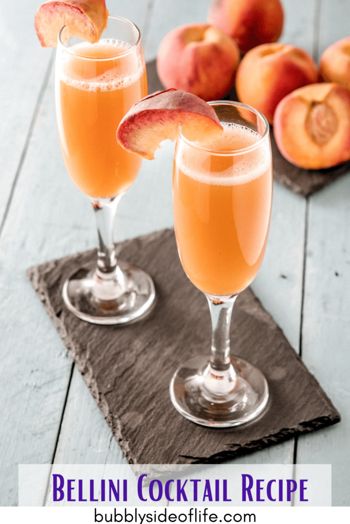 Bellini Cocktail Recipe In a champagne flute, add 1 oz Puré 3.5-4 oz Prosecco Puree Ingredients Fruit of your choice 1 T Simple Syrup 1 t Lemon Juice Water (if you're using frozen fruit) Combine all ingredients and blend/purée it all together until smooth. Bubbly Cocktail Recipes | Champagne Recipes | Prosecco Recipes | Mocktails | Cocktails | Bubbly Drinks | Bubbly Cocktails | Bubbly Mocktails | Sparkling Wine | Champagne | Rose all day | Prosecco | Wine | Bubbly Side of Life