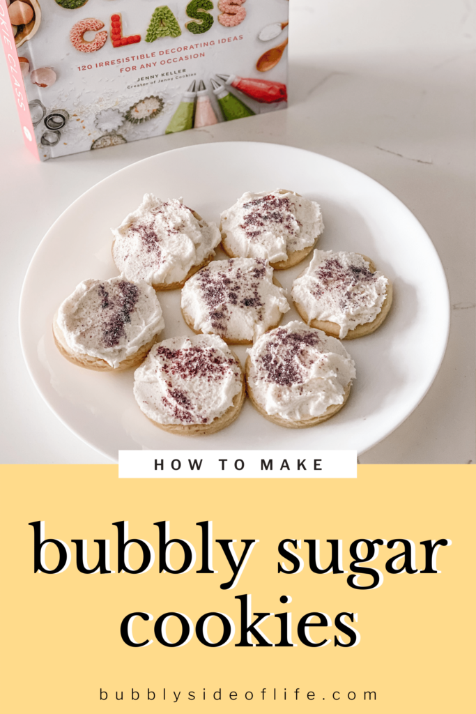 What better way to celebrate National Sugar Cookie day than with some homemade buttercream frosted sugar cookies - and a little bubbly added in of course! Bubbly Drinks | Sparkling Wine | Rose all Day | Bubbly Cocktails | Champagne drinks | Prosecco drinks | Bubbly recipes | Virtual Happy Hour | Girls Night Ideas