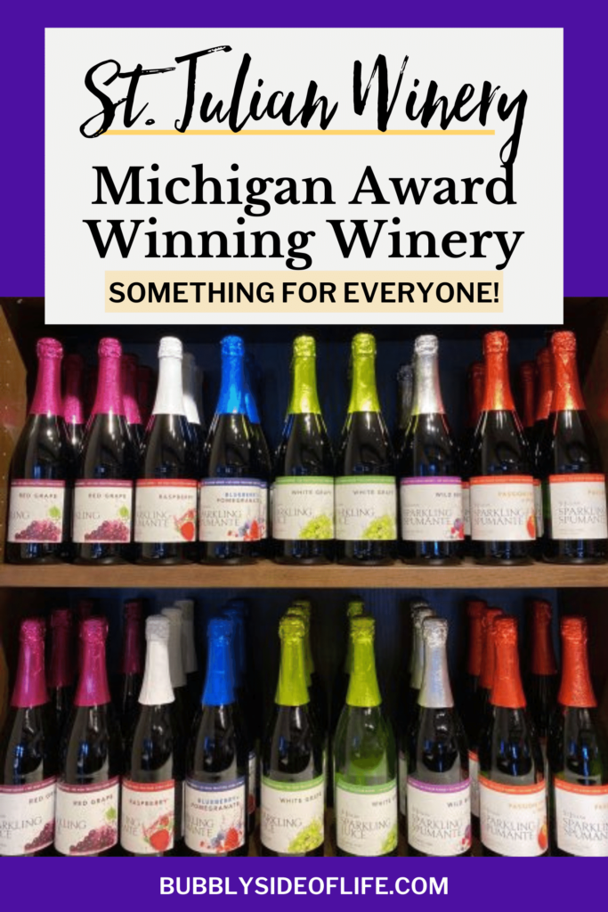 St. Julian Winery in Michigan is an award winning winery, it has something for everyone which makes it a great winery for families. Six wine tasting locations and over 100 varieties. Learn more here! #michiganwinery #michigantravel