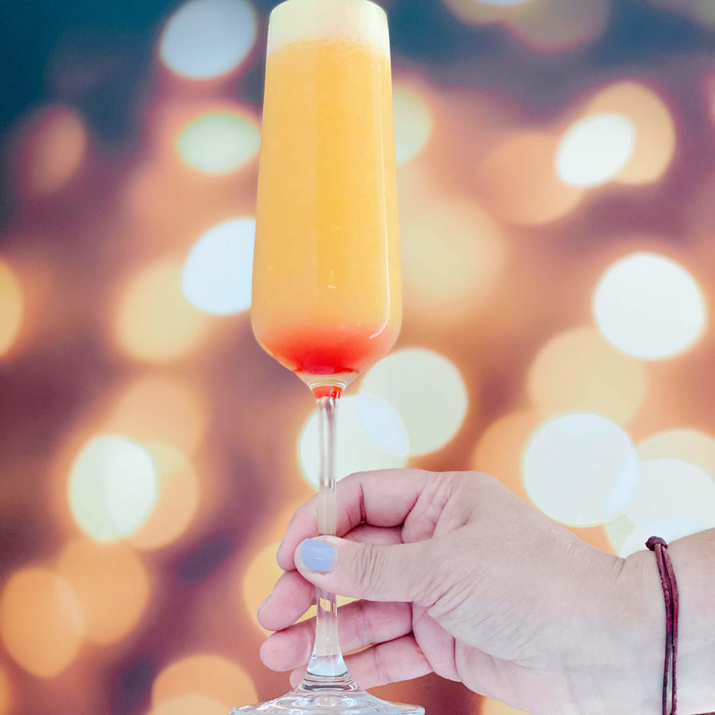 Perfect sunset makes one of the many non-alcoholic drinks everyone will love.