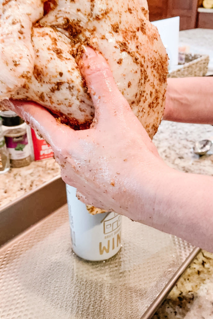 Bubbly canned chicken can be cooked on the grill or in the oven.