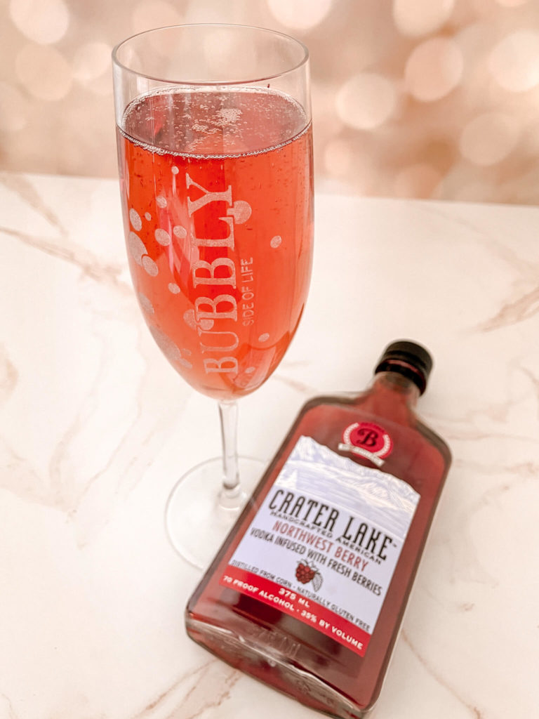 Cheater mimosas made with Crater Lake Northwest Berry vodka.