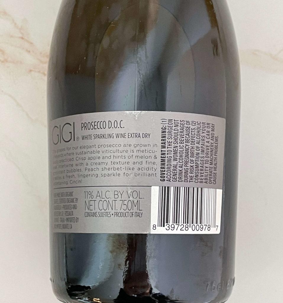 Sparkling wine sweetness level extra dry