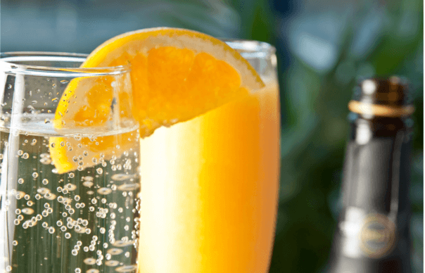 Order your perfect mimosa....for flavor or for color.
