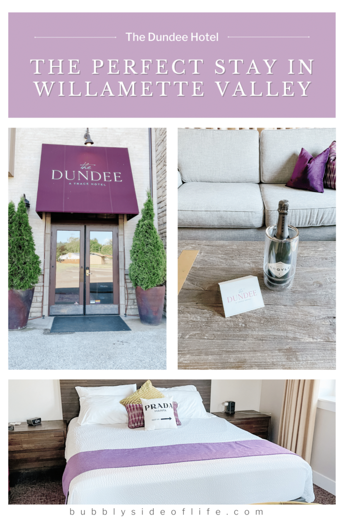 Find out why the Dundee Hotel is the perfect place to stay in the Willamette Valley during sparkling wine tasting getaways. Check out my blog to learn all the reasons why and follow along here for all things bubbly!   Willamette Valley Oregon Where to Stay   Willamette Valley Oregon Wine Tasting