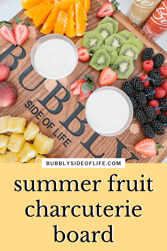 Learn how to create a fruit charcuterie board to enjoy with sparkling wine to celebrate any occasion this summer. Summer fruits always play an important part as a snack, appetizer, or dessert at any outdoor party, pool party, BBQ, or picnic.  Also, fruit pairs so well with sparkling wine and can even be used to create a mimosa!  Check out my blog for the bubbly fruit dip recipe and tips on how to create the perfect fruit charcuterie board. Make sure to follow along here for all things bubbly!