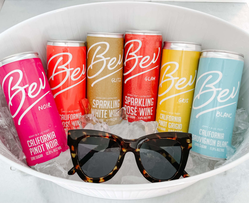 Bev canned bubbly and wine with zero sugar.