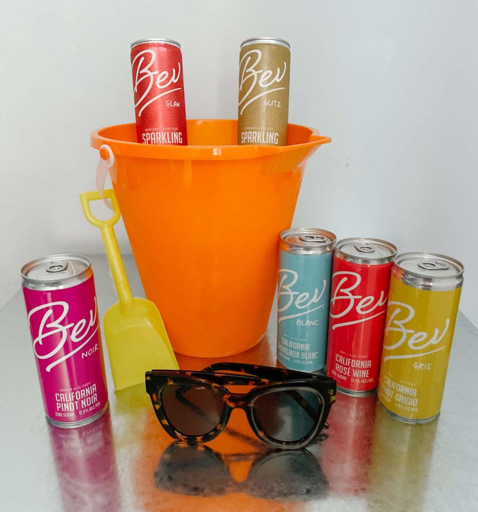 Bev canned wine, a great 0 sugar sparkling wine option.