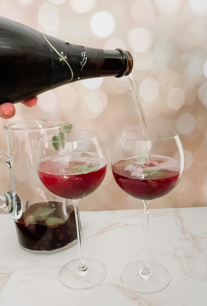 Bubbly mint sangria will compliment any of your 4th of July treats.