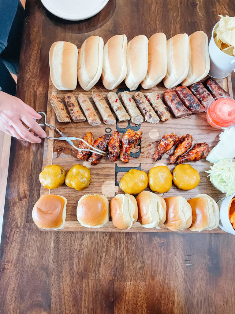 Grilling our favorite foods for the perfect BBQ board.