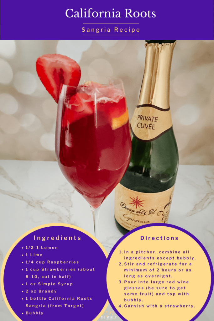 California Roots Sangria recipe made with California Roots Sangria wine from Target.