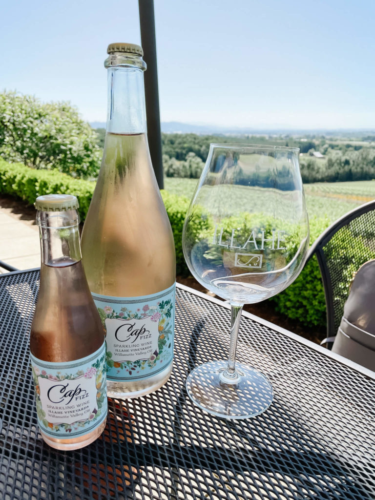 Illahe, the winery with the cutest little bottles of bubbly...and they're oh so good too.