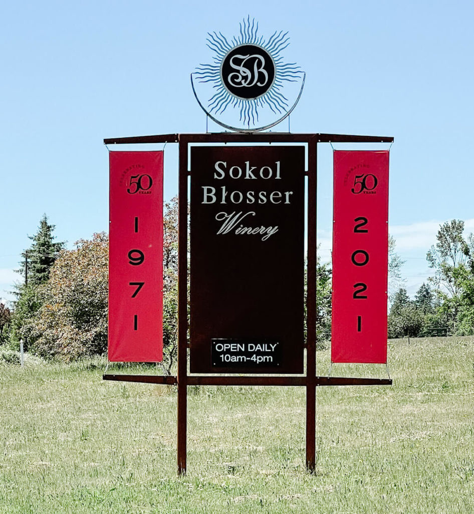 Sokol Blosser Winery, truly one of my favorite Willamette Valley wineries and one I visit every single time I visit.