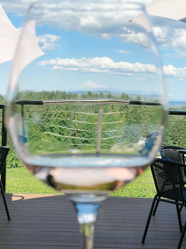 The views from Hawk View Winery in Willamette Valley Wine Country