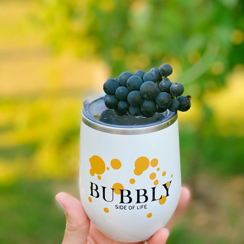 The perfect tumbler to pour your canned bubbly into.