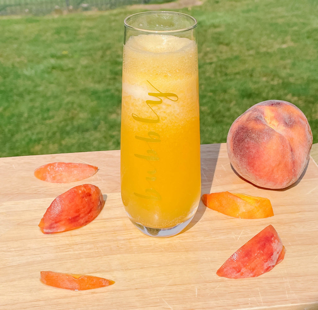 An elevated bellini drink.  Just add Crater Lake sweet ginger vodka.