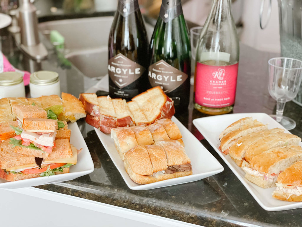 Snacks are a key part of any sparkling wine tasting at home!