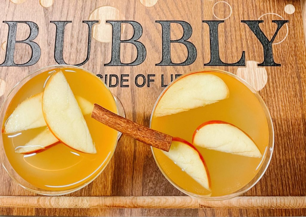The perfect fall cocktail using our (not so) secret method to prep the apples.