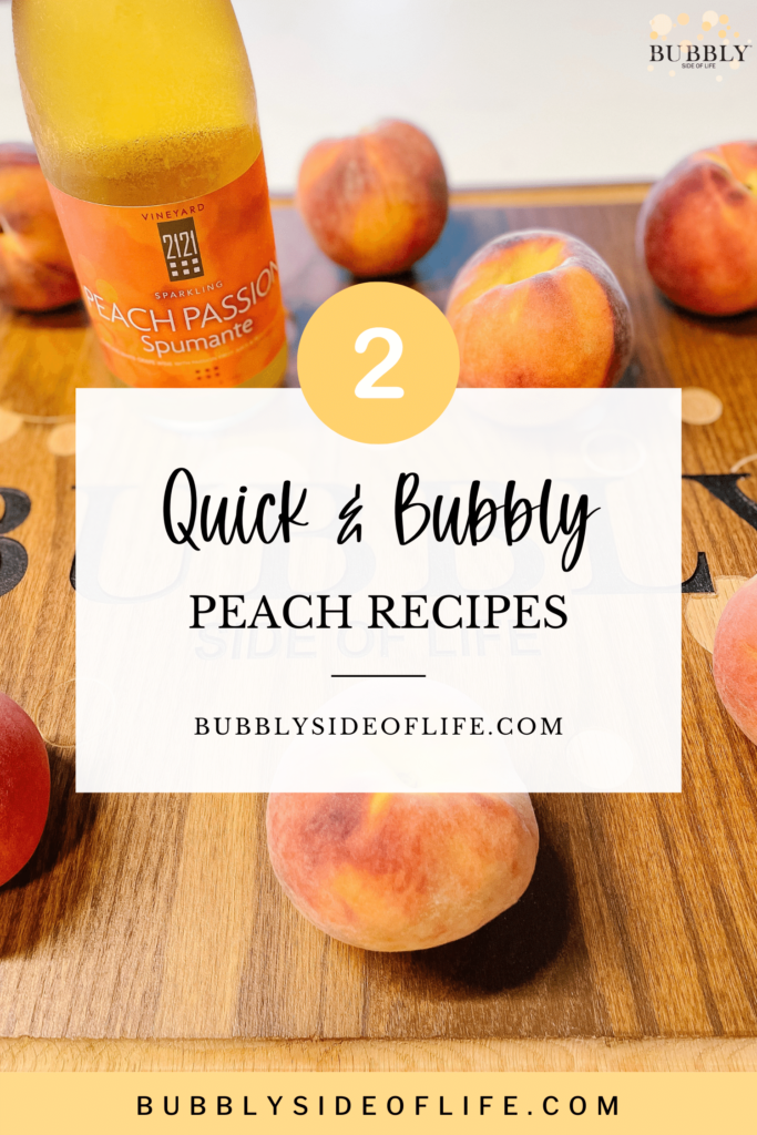 Peaches are definitely a summertime favorite, so we created two easy bubbly peach recipes that you will definitely want to make. The peach cobbler recipe and peach bellini cocktail recipe pair well together and are perfect for brunch, breakfast, dessert, or any occasion. Yes, both recipes include sparkling wine! Visit the blog post for the full recipes and follow along here for all things bubbly!