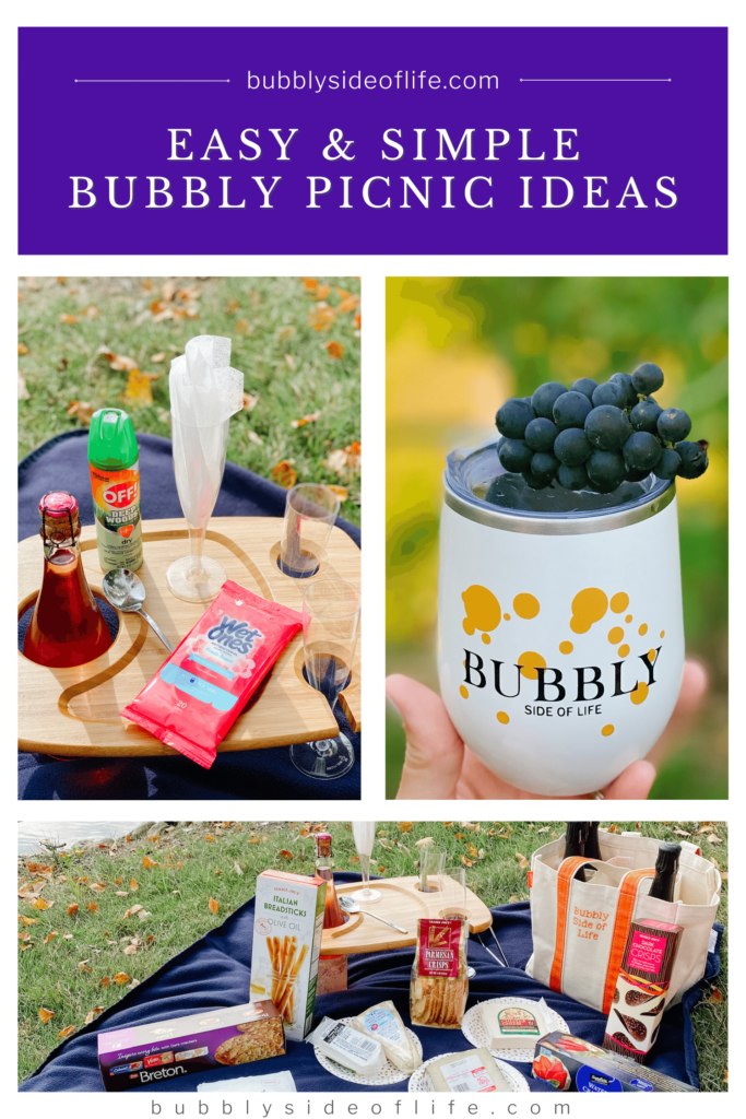 Find out everything you need for an amazing bubbly picnic that could very well turn into a bubbly party! I share all the necessities for the perfect bubbly summer picnic including sparkling wine, picnic snacks, desserts, and picnic essentials. Check out my blog for more bubbly ideas and follow along here for all things bubbly! | Picnic Food Ideas | Picnic Ideas | Summer Party Ideas | Summer Date Ideas