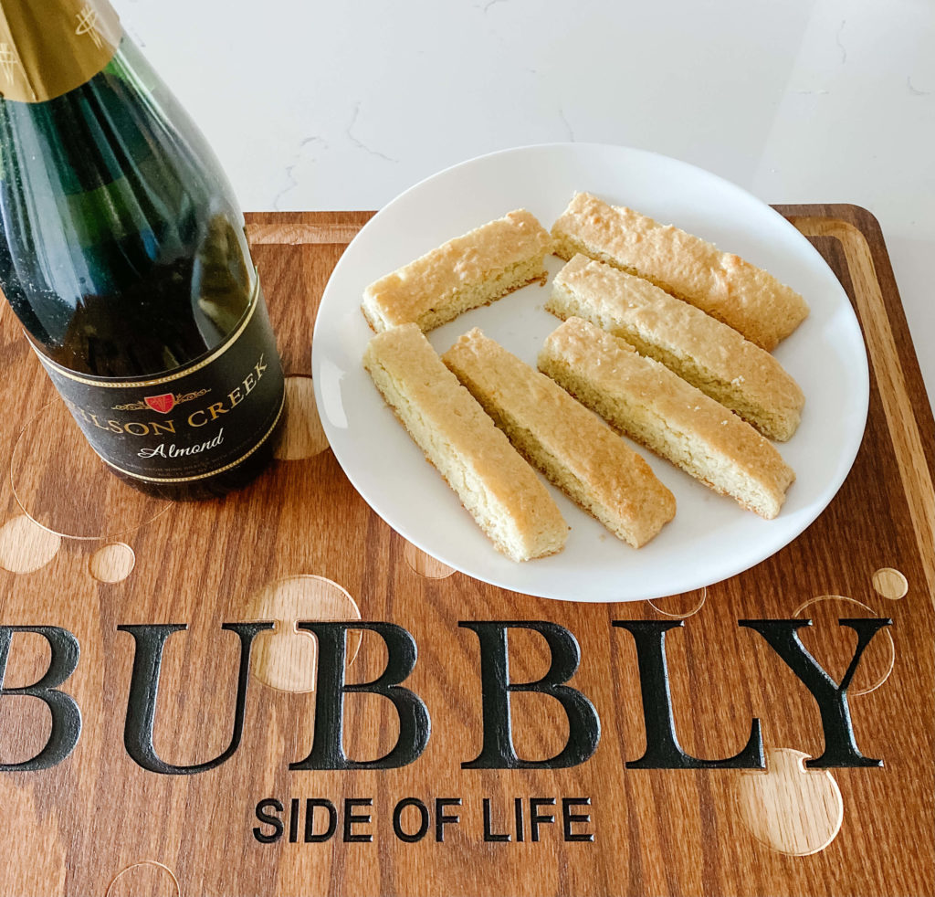 Bubbly biscotti cookies that are as good as the original recipe...ok, maybe a tad better with bubbly.