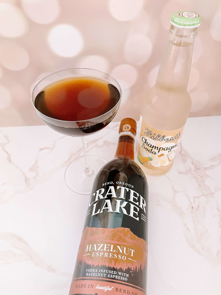 The perfect pairing:  Bubbly Hazelnut Coffee Cocktail + Biscotti Cookies