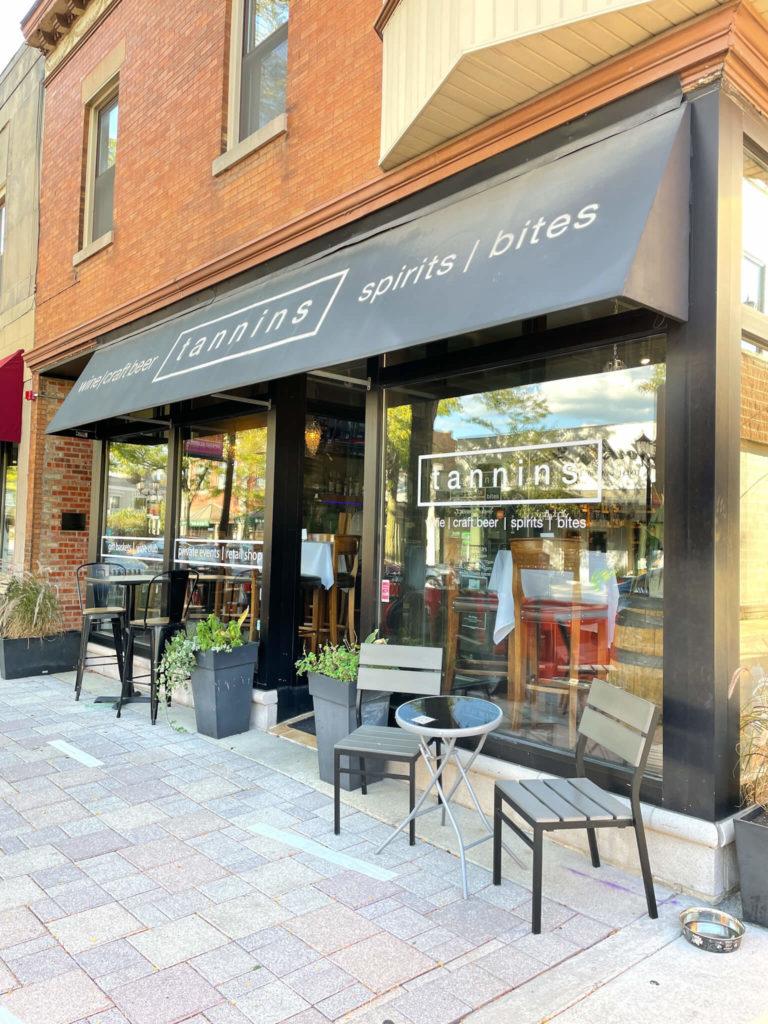 Tannins Wine Bar in Downtown Elmhurst