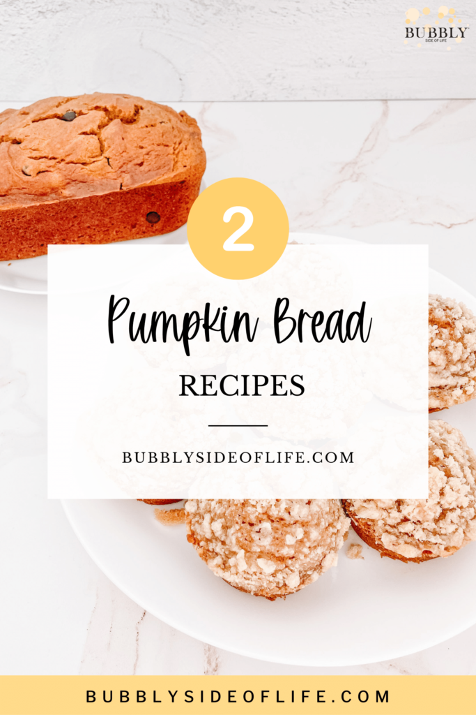 This homemade pumpkin bread is easy to make and we consider it one of our essential fall recipes. The same batter can be used for two recipes, including a pumpkin bread recipe (with chocolate chips) and a pumpkin coffee cake muffins recipe. This simple, but delicious recipe is the perfect breakfast idea and is also a great addition to your next brunch menu! Check out our blog for the full recipes as well as more fall recipes. Make sure to follow along here for all things bubbly!
