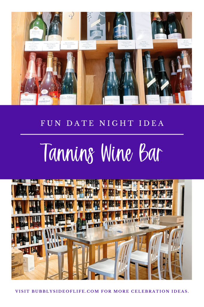 Looking for the perfect girls night idea or date night idea in the Chicago area? Tannins wine bar in Elmhurst is the perfect destination for your next night out. Whether you want to do a wine tasting with friends or find your next favorite bottle to enjoy at home. Tannins has it all, including food (and beer and spirits for the non-wine lover). Check out our blog for more bubbly celebration ideas and follow us here for all things bubbly!